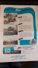 Vintage Equipment Brochure BUCKEYE DITCHER BROCHURE  Gar Wood Industries Ohio