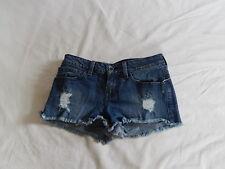 Vans denim low rise distressed shorts Size 1 Vintage Mini