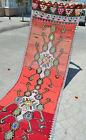 "3x13 Ft Turkish Hand Woven Runner Kilim Rug FULL TRIBAL Hallway Decor 36"" x 150"""