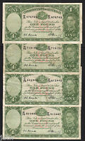 Australia R-31. (1949) One Pound - Coombs/Watt x 4.. George VI..  Fine+