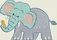 Baby's Fleece Cot Blanket - Elephant - personalised with baby's name - BABY BLUE