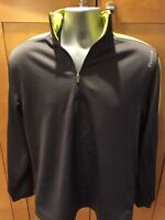 Reebok Men's Athletic Active Top Size M long Sleeve shirt Pullover 1/4 Zip BF51