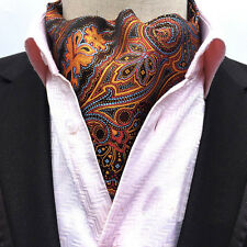 Mens Fashion Paisley Floral Long Scarves Cravat Ascot Neck Ties Gentleman New