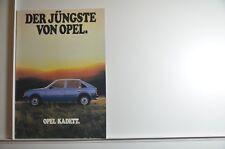 """schöner Prospekt Opel Kadett D """"Der jüngste von Opel"""" Ausstattungen Luxus SR etc"""