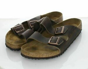 29-13 $135 Men's Sz 12 M Birkenstock Arizona Oiled Leather Soft Footbed Sandal
