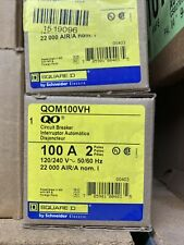 Square D Qom100vh 100a 2p 240v Circuit Breaker New Surplus In Box