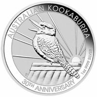 2020 Australian Kookaburra 1oz .9999 Silver Bullion Coin - 30th Anniversary - PM