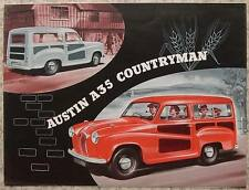 AUSTIN A35 COUNTRYMAN Car Sales Brochure c1956 #1137B