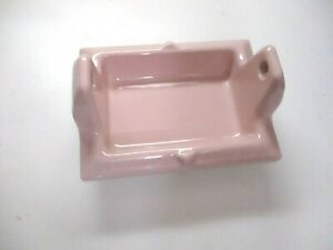 Fairfacts USA Art Deco Porcelain Pink Heather Recessed Toilet Tissue Roll Holder