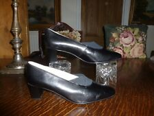 ELMDALE  ITALIAN  BLACK LEATHER  SHOES UK 8    MADE IN ENGLANG
