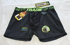 Tradie Underwear Mens Black Fluro Cool Tech Trunk Brief Size M