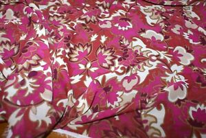 3m x 1.55m 'FUSCIA FLORAL' Crinkle Georgette Print Fabric, Sewing Material