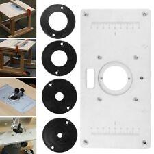 inserte la placa de fijación de la placa para el recortador de mesa de fresado
