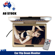 """In Car 13"""" Flip Down Ceiling LCD Overhead Monitor Roof Mounted Screen TV AU"""