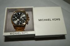 Michael Kors Gage 45mm Chronograph Gold Stainless Steel Men's Watch NEW MK8361