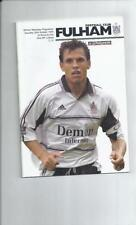Fulham Home Team Division 1 Football Programmes