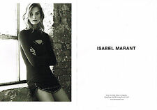 PUBLICITE ADVERTISING  2013   ISABEL MARANT  haute couture  ( 2 pages)