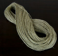 100metre UNWAXED LINEN TWINE NATURAL STRING FLAX CORD SHABBY CHIC VINTAGE THREAD