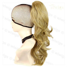 Wiwigs Golden Blonde Long Wavy Claw Clip In Ponytail Hairpiece Extension