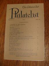 The Collectors Club Philatelist January 1950 Section 1 Volume Xxix No. 1
