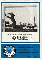OL 73/74  BSG Stahl Riesa - 1. FC Lok Leipzig