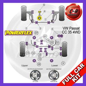 VW Passat Cc 35 4WD (2008-2012) Powerflex Komplett Bush Set