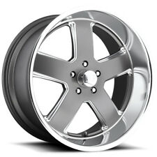 "4-NEW US Mags U118 Hustler 20x8 5x4.75"" +1mm Gunmetal Wheels Rims"