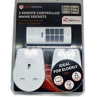 Remote Control Plug Socket 30M Range UK Mains Wireless Switch Energy Save Socket