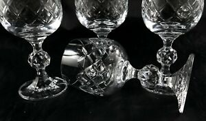 Four lovely Bohemia Lead Crystal vintage Port or Small Wine glasses