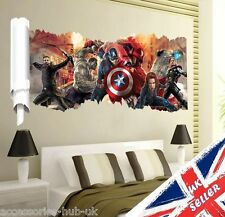 Pared 3D Hulk De Los Vengadores de Marvel Iron Man Thor Capitán Pegatina De Vinilo Niños Habitación