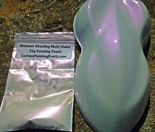 Shimmer Ghosting Multi Violet Pearl Pigment  Auto Lacquer Clearcoat