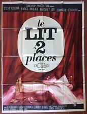 Affiche LE LIT A DEUX PLACES Jean Delannoy FRANCE ANGLADE Audoux 120x160cm *