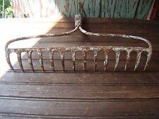 Primitive Appeal Iron Rake Farmhouse Steampunk Wall Rack Garden Tools Jewelry (E