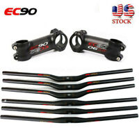 EC90 MTB Bike Handlebar 31.8/25.4mm Carbon 660-760mm Bicycle Stem 6/17° Bar Sets