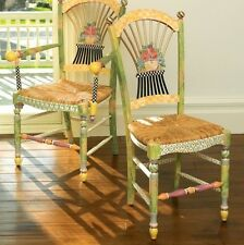 Mackenzie Childs Light Flower Market Basket Chair - will ship
