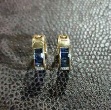 18ct Gold Blue Sapphire Earrings