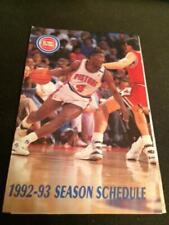 1992-93 Detroit Pistons Basketball Pocket Schedule BUD Version #4 JOE DUMARS