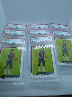 Investment Lot X8 Trae Young Hawks 2018-19 Panini NBA Hoops Rookie RC PSA 9