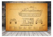 Tiger - Panther - Jagdtiger - Königstiger - und mehr - Panzer Wehrmacht - Poster