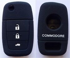 BLACK SILICONE 3 BUTTON FLIP KEY COVER SUITS HOLDEN VE COMMODORE