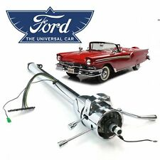 "49-59 Ford EDSEL Chrome Tilt Steering Column Shift 33"" MEL 6.7l Fairlane Corsair"
