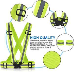 Adults Unisex Hi Viz Reflective Heavy Duty Belted Brace Cycling Work Wear Brace