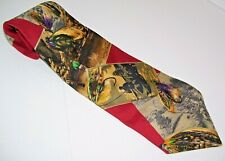 "Eddie Bauer Outdoor Outfitter Men Dress Suit Neck Tie Fishing 4""W 59""L 100% Silk"