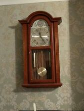 Wooden Pendulum Wall Clock Mahogany Westminster Chime by Acctim