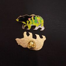 Bear Shape Cartoon Enamel Brooch Fashion Jewelry Badge Denim Jacket Collar Pin