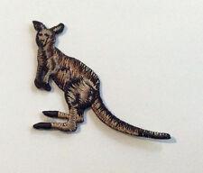 10 x 100% EMBROIDERY IRON ON KANGAROO PATCH EXQUISITE DETAIL AUSTRALIA ANIMAL