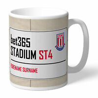 PERSONALISED Stoke City Street Sign Mug - Official Xmas Football Gift
