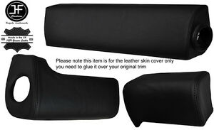 BLACK STITCH 3X DASH DASHBOARD PAD LEATHER COVERS FITS DELOREAN DMC-12 1981-83