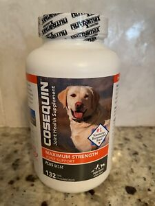 New Nutramax Cosequin Max Strength Joint Supplement w/ MSM for Dogs 132 Tablets