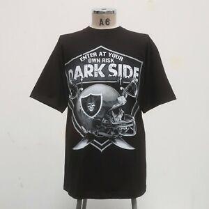 Vintage Y2K Oakland Raiders Dark Side Shirt Silver & Black Las Vegas Los Angeles